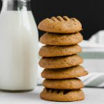 Tender, fluffy, sweet, and a little bit salty, these natural peanut butter cookies are the only PB cookie you will ever want to eat again. Perfect with a hot cup of coffee. | naturallysweetkitchen.com