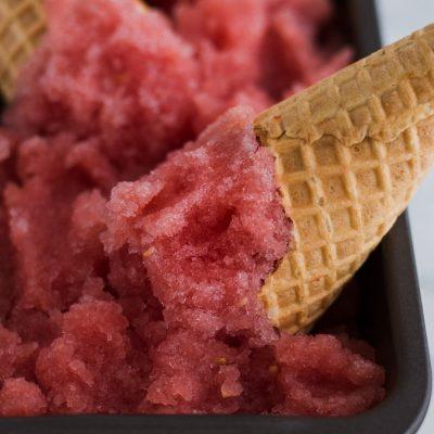 Watermelon Rosé Sorbet