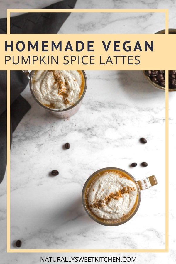 Homemade Pumpkin Spice Lattes | Naturally Sweet Kitchen