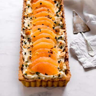 Grapefruit and Thyme Mascarpone Tart