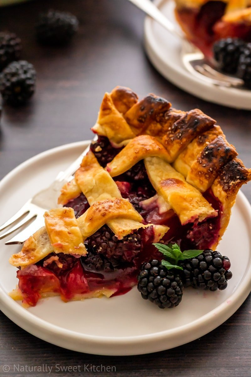 A refined sugar free pie recipe with a flaky all-butter crust and fruit filling.
