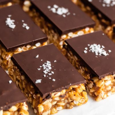 The Best Crispy Chocolate Peanut Butter Bars