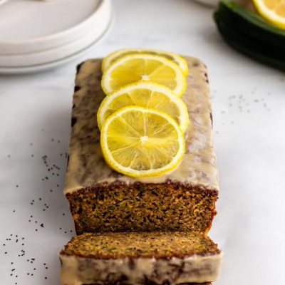 Lemon Courgette Cake with Poppy Seeds