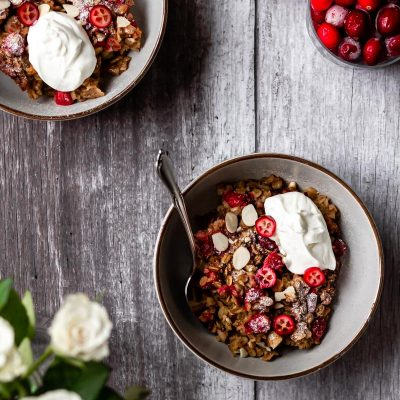 Cranberry Baked Oats