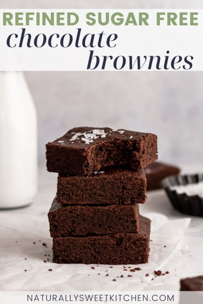 This easy, one-bowl recipe produces the best refined sugar free brownies! Naturally sweetened with coconut sugar and maple syrup, these brownies are intensely rich, fudgy, and chocolatey and come together in just 35 minutes. Get the recipe on naturallysweetkitchen.com