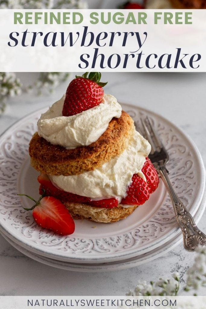 Homemade strawberry shortcakes are a light and sweet dessert idea perfect for ending a comforting meal. This classic recipe pairs buttery biscuits with juicy strawberries and a soft, naturally sweetened whipped cream. Plus, I'm sharing a secret trick to ensure those tall, super flaky biscuits! Get the recipe on naturallysweetkitchen.com