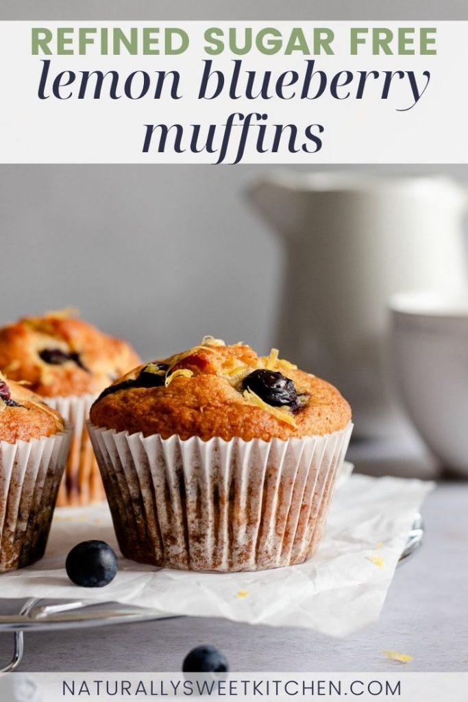 These refined sugar free lemon blueberry muffins are incredibly moist and fluffy and taste just like summertime! Bursting with fresh blueberries and tangy lemon zest, these muffins are kept light and healthy thanks to using honey as our natural sweetener. Want to go the extra mile? Top or inject them with my zingy refined sugar free lemon curd for the ultimate citrusy flavour!